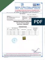 Kamcrete Test Certificate