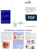 Triptico Mucositis Oral Especialidad