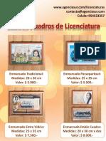 productos licenciaturas