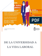 De La Universidad a La Vida Laboral
