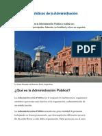 10 Características de La Administración Pública
