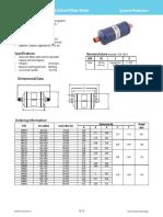 Selecionamento Fitro Secado ADK Core Style Liquid Line Filter Drier