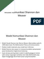 Tugas Model Komunikasi Shannon Dan Weaver