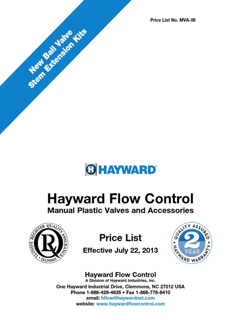 Hayward DAB1020FFK Series DAB PVC with FPM Diaphragm Valve Flanged 2 Size