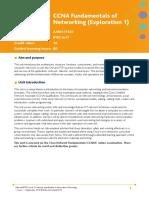 Unit 105 CCNA Fundamentals of Networking Exploration1