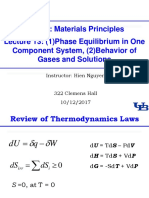 1012 Lecture-13 Phase Equilibr 1 Component