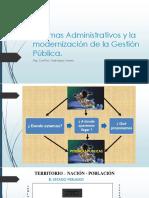 Sistemas Administrativos y La Modernización de La Gestión Pública.
