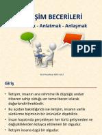 İletişim Becerileri - Ders notları