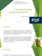 Secagem de Preparações Fitofarmacêuticas