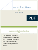 emily moore accomodations menu