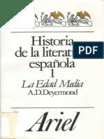 Historia de La Literatura Espan - Allan Deyermond