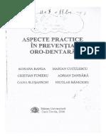 Dr. Marian CUCULESCU - Aspecte Practice În Prevenția Oro-Dentară