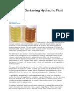 Causes of Darkening Hydraulic Fluid