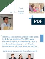 formal informal debate