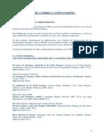 Bibliografia Basica Sobre La Union Europea