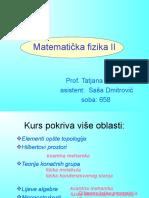 Matematicka fizika 2