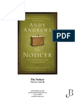 the noticer by andy andrew notes by jb