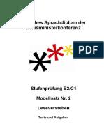 B2-C1 Modellsatz Nr. 2, LV Texte Und Aufgaben