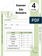 4to Grado - Examen Bloque 2 (2017-2018)
