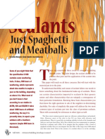 Sealants Just Spaghetti and Meatballs