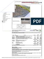 Precio en Colombia de m³ de Muro de gaviones. Generador de precios de la construcción. CYPE Ingenieros, S