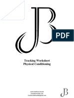 tracking worksheet physical conditioning