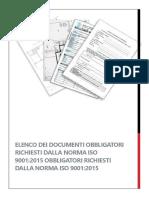 ISO 9001 2015 Documenti Obbligatori