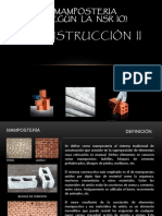MAMPOSTERIA - CONSTRUCCION