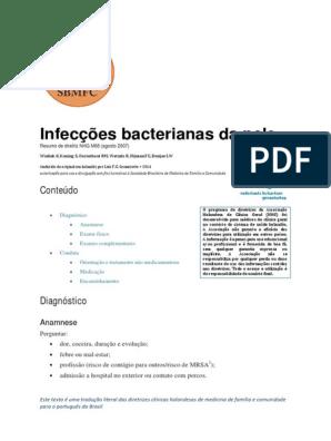 MRSA de no tratamento de infecção por perna úlceras