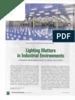 Lighting Matters in Industrial Environment