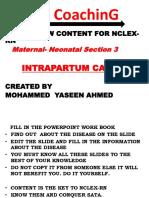 Content Section 3 Unit 2 Intrapartum Care