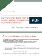 Especificaciones de Amplificadores Operacionales