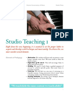Notes on How to Teach Piano