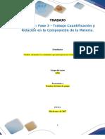 Formato Entrega Trabajo Colaborativo – Unidad 2_ Fase 3 - Trabajo Cuantificación y Relación en La Composición de La Materia (1)