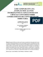 ARAUJO, BARBOSA E AVILA - Análise Comparativa de Alunos Estudantes e Concluintes