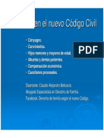 Alimentos en El Nuevo Codigo Civil y Comercial-power - Dr. Belluscio (6-May)