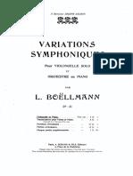 Boëllmann, Léon - Variations Symphoniques, Op.23 for Cello and Orchestra (complete pf score)
