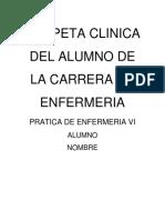 Carpeta Clinica 4 año 1er modulo