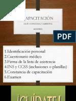 Capacitación Salud Ocupacional 2017