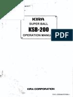 Manual de Operacion Taladros Kira