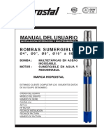 Manual Linea-2 16 Bomba Sumergible 4, 6, 8 y 10 Pulgadas (03-2015)