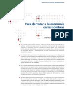 Para derrotar a la economía en las sombras. J. Stiglitz y M. Pieth