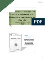 Evolucion y Aplicacion de La Normativa de Hormigon Preparado en Espana