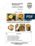 Folleto de Curso Taller Enlatado