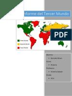 Características Del Tercer Mundo y Relación La Pobreza