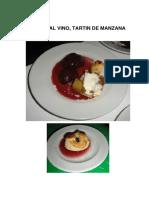 9 CLASE de REPOSTERIA, Peras Al Vino y Tartin de Fresa.