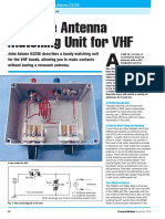 Simple Antenna Matching Unit for VHF