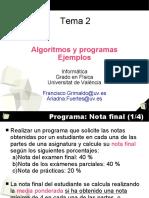 Tema2 Ejercicios Castellano