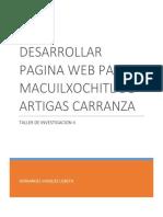 Investigacion-Desarrollar Pagina Web
