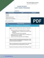 AS400 Review Audit Work Program